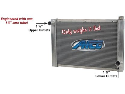 "Picture of AFCO Radiator Chevy - Single Row - 19"" x 27 1/2"""