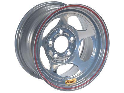 "Picture of Bassett Silver Inertia Advantage Standard Wheels - 15"" x 8"" - IMCA"