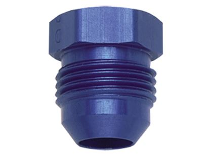 Picture of Fragola Aluminum AN Adapters - Flare Plugs - Blue/Black