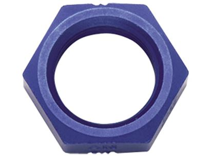 Picture of Fragola Aluminum Bulkhead Nuts - Blue/Black