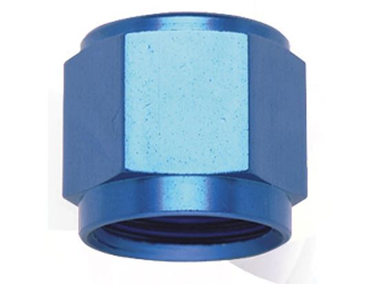 Picture of Fragola Aluminum AN Adapters - Flare Caps - Blue/Black