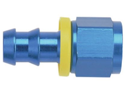 Picture of Fragola Push Lock Hose Ends -   Straight  - Blue/Black