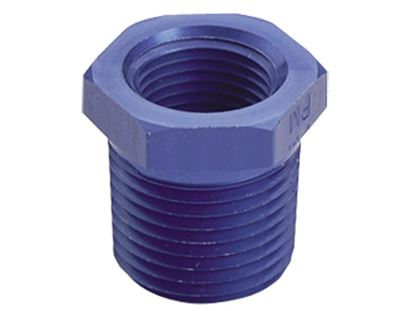 Picture of Fragola Aluminum AN Adapters - Pipe Bushing Reducer - Blue/Black