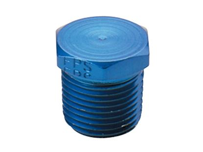 Picture of Fragola Aluminum Adapters - Hex Pipe Plug - Blue/Black