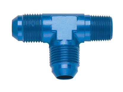Picture of Fragola Aluminum Adapters - Tee Pipe On-The-Run - Blue/Black