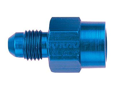 Picture of Fragola Aluminum Adapters - AN Male x Female Pipe Thread - Straight - Blue/Black