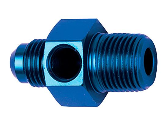 Picture of Fragola Aluminum Adapters - AN Male x AN Male - Blue/Black