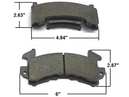 Picture of AFCO Brake Pads - GM Metric Axle Sets