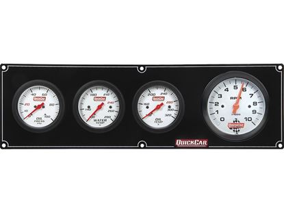 "Picture of QuickCar Extreme Gauge Panels with 3"" Tach"