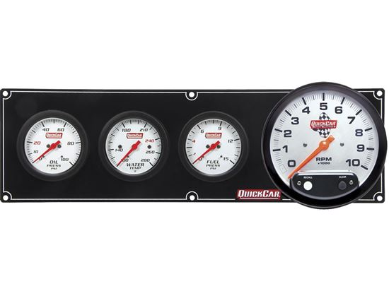 "Picture of QuickCar Extreme Gauge Panels with 5"" Tach"