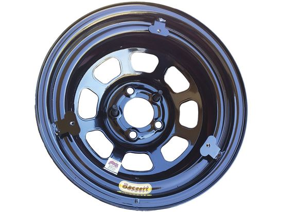 Picture of Bassett D-Hole Black 3 Tab Wheels 5 x 5