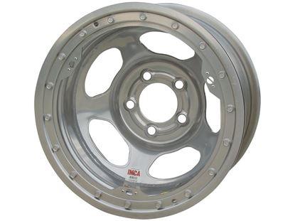 "Picture of Bassett Silver Inertia Beadlock Wheels - 15"" x 8"" - IMCA"