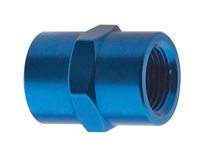 Picture of Fragola Aluminum Adapters - Female Pipe Coupler - Blue/Black