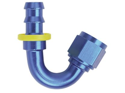 Picture of Fragola Push Lock Hose Ends - 150 Degree - Blue/Black