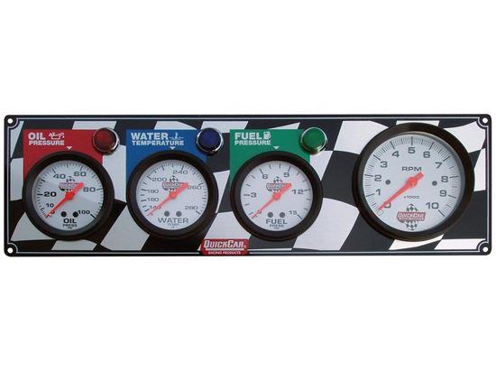 "Picture of Quickcar Gauge Panels - 3 3/8"" Tach"