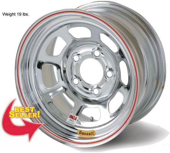 "Picture of Bassett 15"" x 8"" D-Hole Wheels"