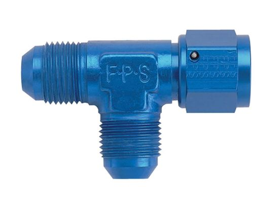 Picture of Fragola Aluminum Adapters - Tee Swivel On-The-Run - Blue/Black