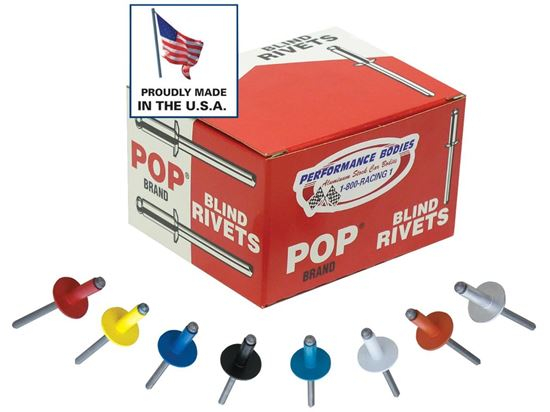 """Picture of POP Rivets - 3/16"""" And 1/8"""" Rivets Boxes of 250"""