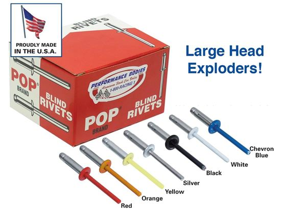 """Picture of POP Rivets - 3/16"""" Exploding Rivets Boxes of 250"""