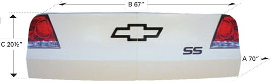 Picture of ABC Tailpiece for Monte Carlo, Fusion, Grand Prix