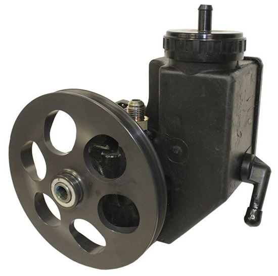 "Picture of PRP Aluminum Power Steering Pump - 6"" V-Belt with Plastic Reservoir"